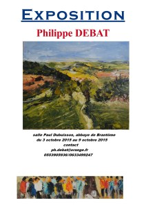 flyer Ph Debat brantôme octobre 2015
