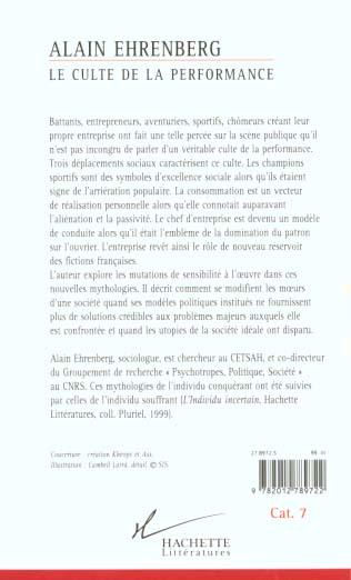 Le Culte De La Performance : culte, performance, Livre, Culte, Performance,, Alain, Ehrenberg