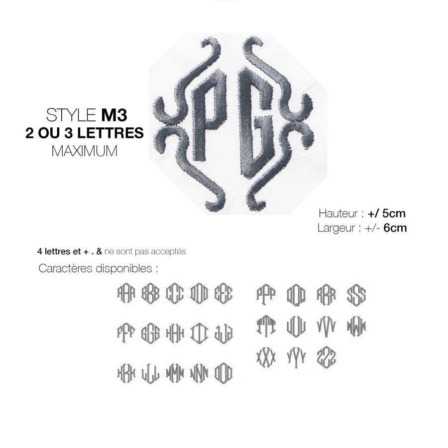 Mouchoir bio personnalisé avec vos initiales brodées par