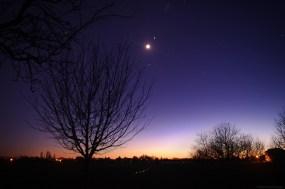 Lune crépusculaire