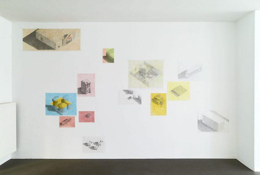 Die moderne Stadt, Zeichnung, Philipp Gasser
