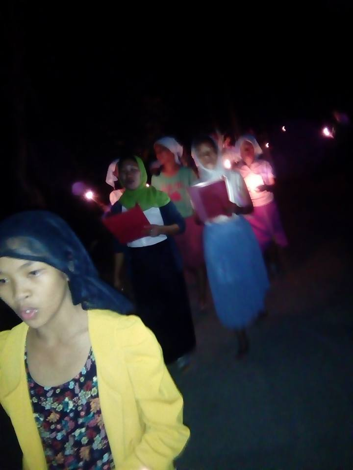 Midnight procession