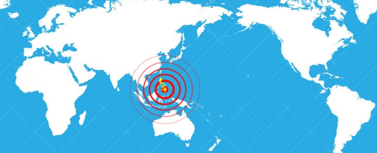 Mindanao earthquake map
