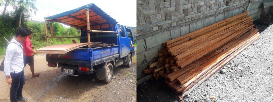 Lumber Arrives