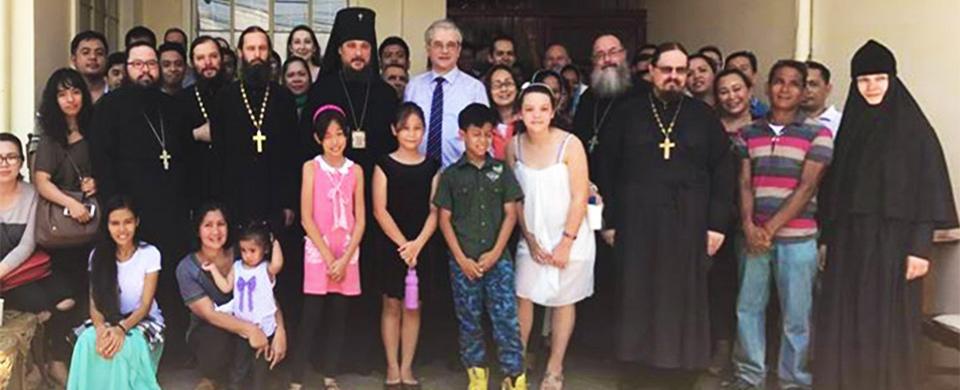 With Arcbishop in Paranaque