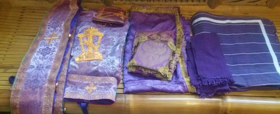 Lenten purple vestments