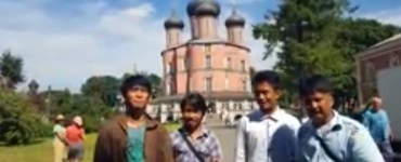 Filipino seminarians in Russia