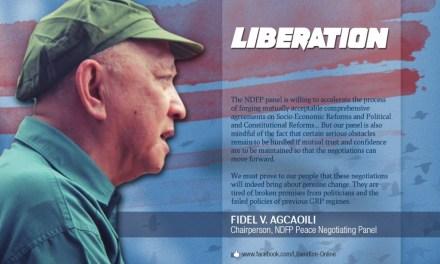 Breaking:  Philippine Communists' top negotiator Fidel Agcaoili dies