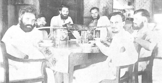 6 of the PME Fathers who escaped the Japanese and internment.  Baganga, 1942.