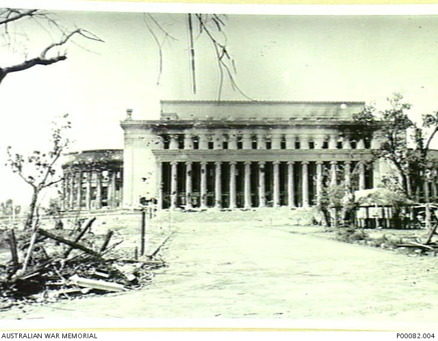 MANILA, THE PHILIPPINES, 1945. VIEW OF DAMAGED POST OFFICE. (DONOR: B. COOPER).