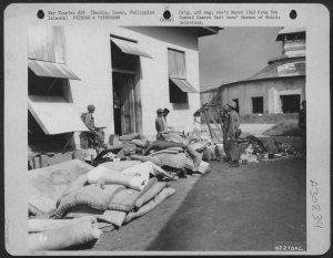 U.S. Liberation forces oversee cleaning of Old Bilibid Prison, 1945