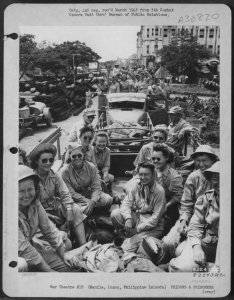 New U.S. Army- nurses arriving at STIC, 1945