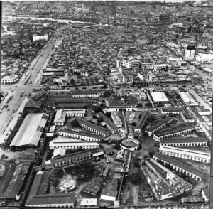 Aerial view of Old Bilibid Prison, 1945
