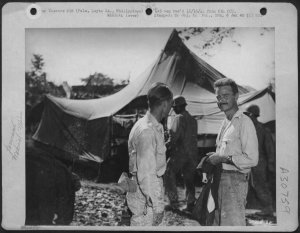 "Actor Lew Ayres, ""Dr. Kildare, serving in the Philippines in 1945."