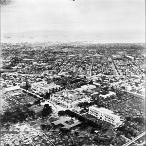 Aerial view of STIC, 1945