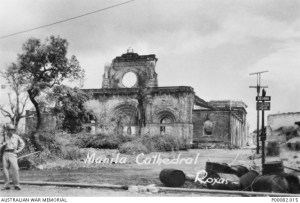 MANILA, THE PHILIPPINES, 1945. MANILA CATHEDRAL, IN RUINS. (DONOR: B. COOPER; PHOTOGRAPHER: ROXAS).
