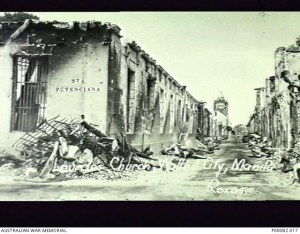 MANILA, THE PHILIPPINES, 1945. LOURDES CHURCH IN THE WALLED CITY OF MANILA, BADLY DAMAGED BY SHELLFIRE. (DONOR: B. COOPER; PHOTOGRAPHER: ROXAS).