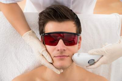 Facial Hair Removal for men with laser