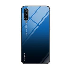 Capa Dura Emborrachada Vidro Temperado Gradiente Preto Azul Escuro Essager Be Yourself Xiaomi Mi 9 Img 09