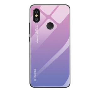 Capa Dura Emborrachada Vidro Temperado Gradiente Roxo Claro Rosa Claro Essager Be Yourself Xiaomi Mi 8 Lite Img 01