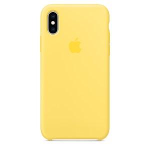 Capa De Silicone Para Iphone Xs Max Amarelo Canário Img 01