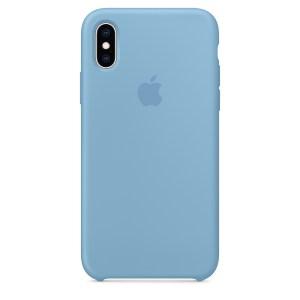 Capa De Silicone Para Iphone Xs Max Azul Centáurea Img 01