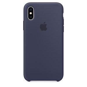 Capa De Silicone Para Iphone Xs Max Azul Meia‑noite Img 01