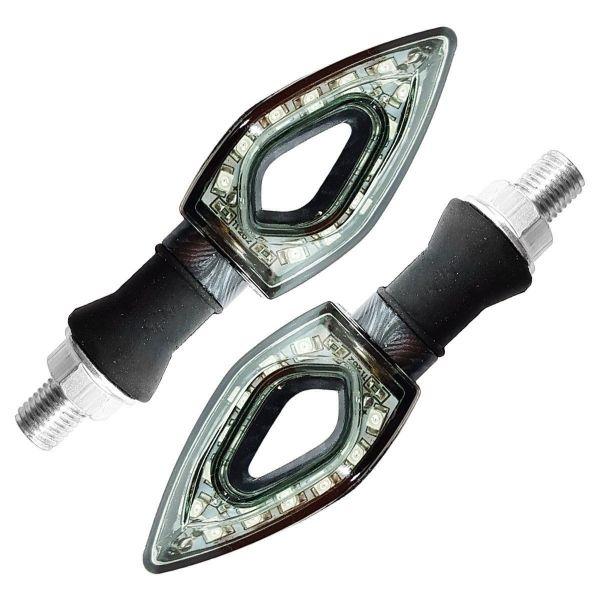 Pisca Seta LED Esportiva Triangular Universal 12V 12 LEDS Moto IMG 05