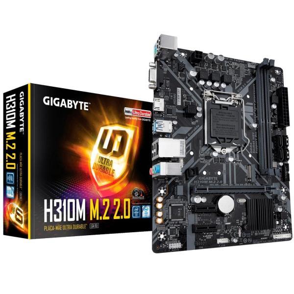 Placa Mae Ultra Durable Gigabyte H310m M.2 2.0 Intel Lga 1151 Img 01
