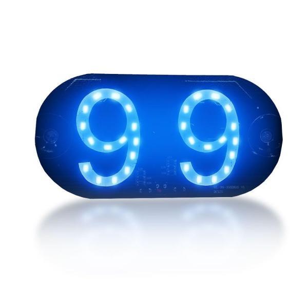Placa de LED Luminosa 99 Azul com Conexao Isqueiro Veicular IMG 01