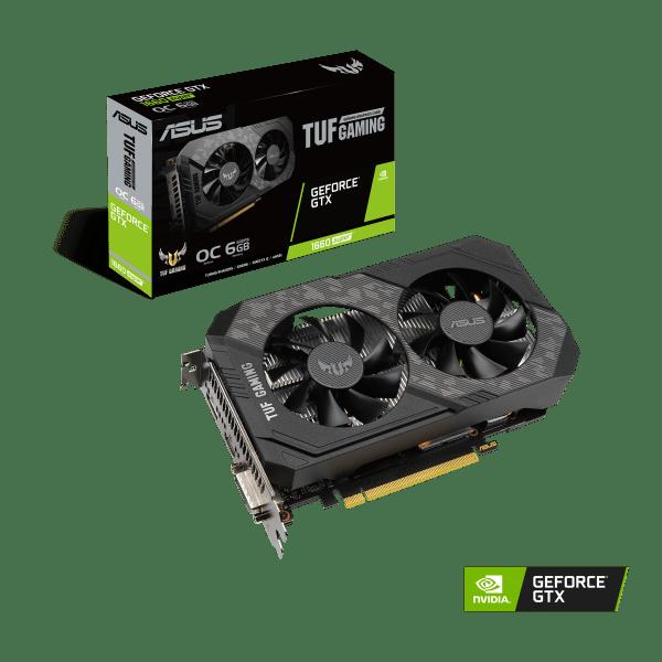 Placa de Video ASUS TUF Gaming GeForce nvidia GTX 1660 SUPER OC Edition 6GB Dual Fan IMG 01