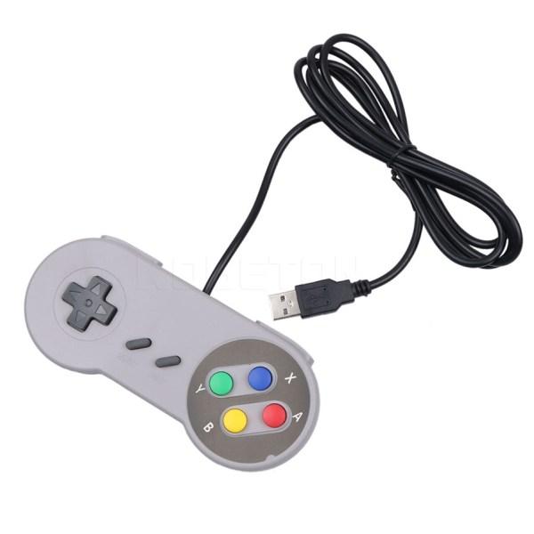Retro Usb Controller Gamepad Super Nintendo Snes Img 02
