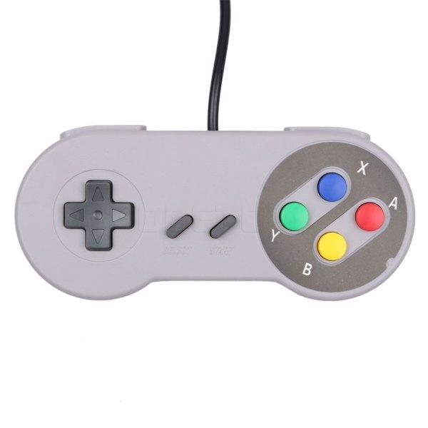 Retro Usb Controller Gamepad Super Nintendo Snes Img 03