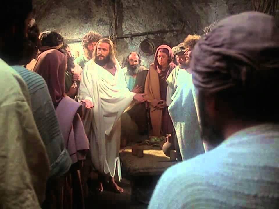 Jesus breathed on them