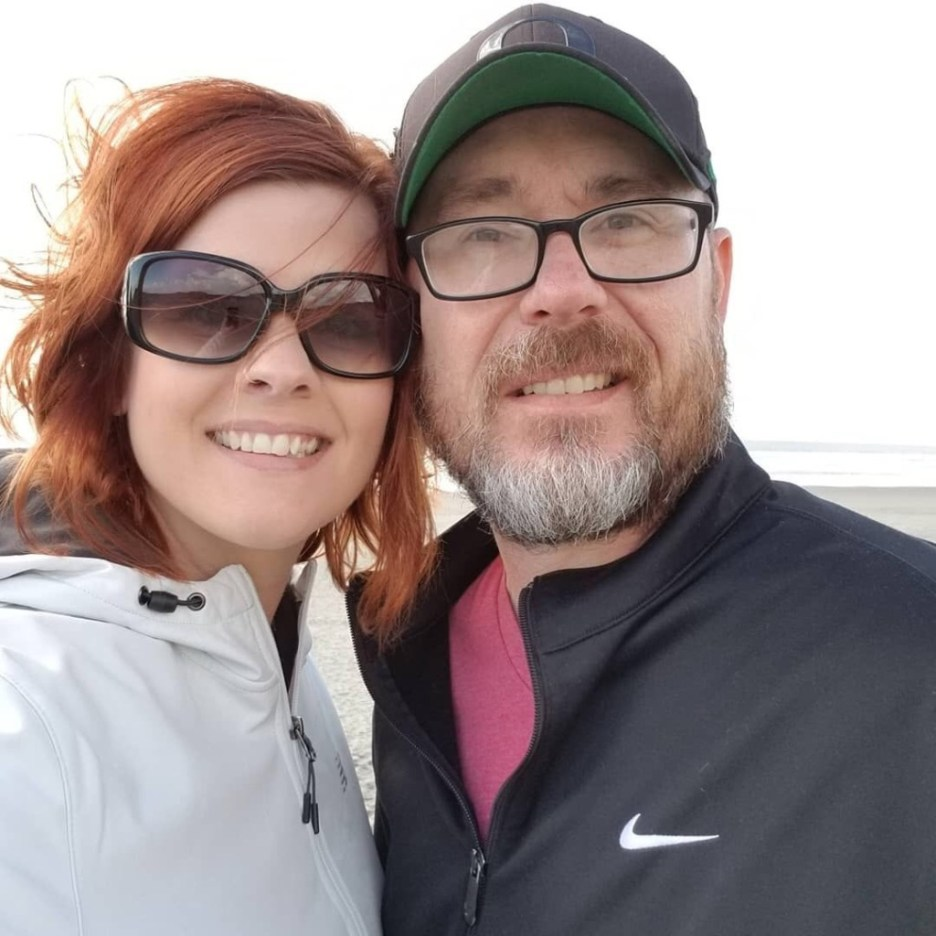 Phillip and his wife at the Oregon Coast