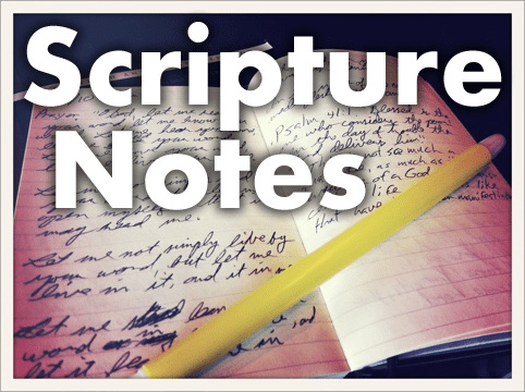 Scripture Notes: Numbers 7