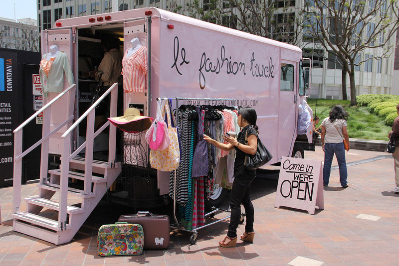 Clothes and accessories fill Le Fashion Truck.  (courtesy of Lorensworld.com