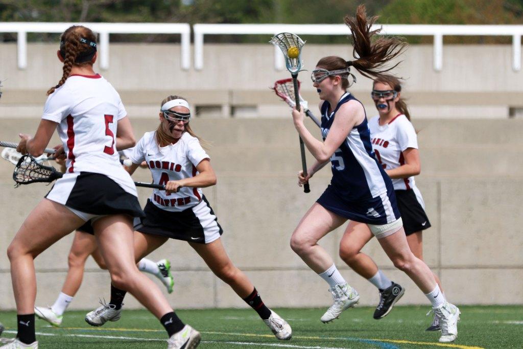 Girls Lacrosse: Garrity '15 Tallies Five Goals  In Tie Against Loomis