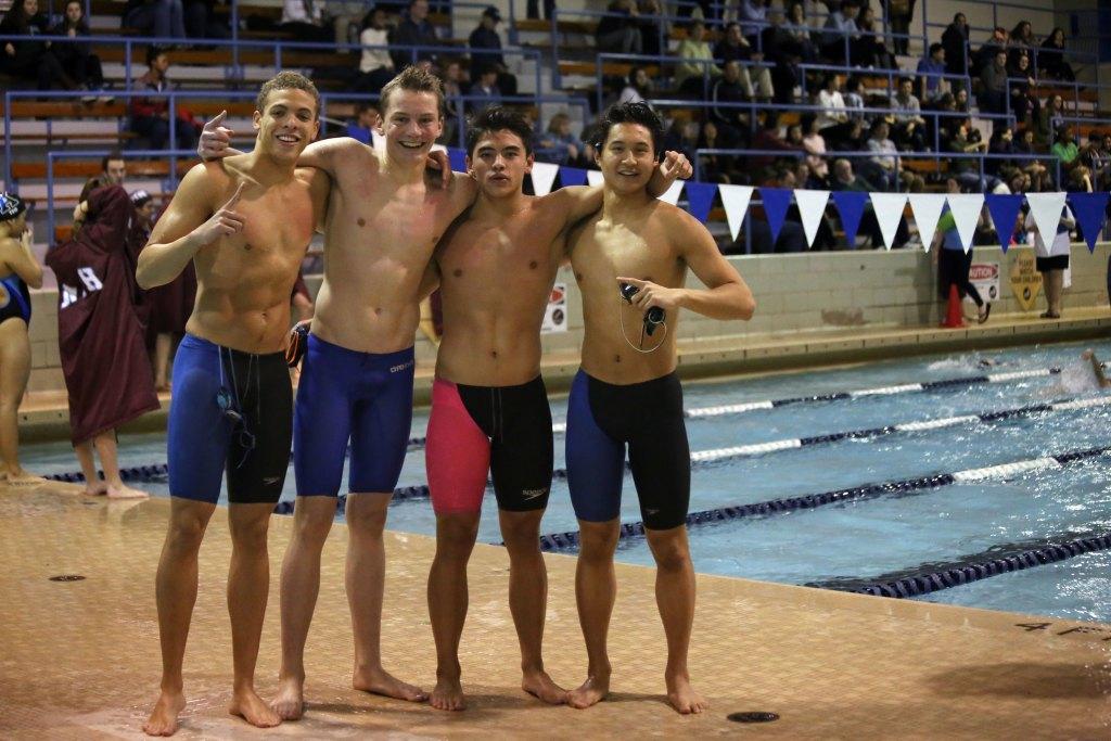BVSw: Boys Relay Team Shatters School Record