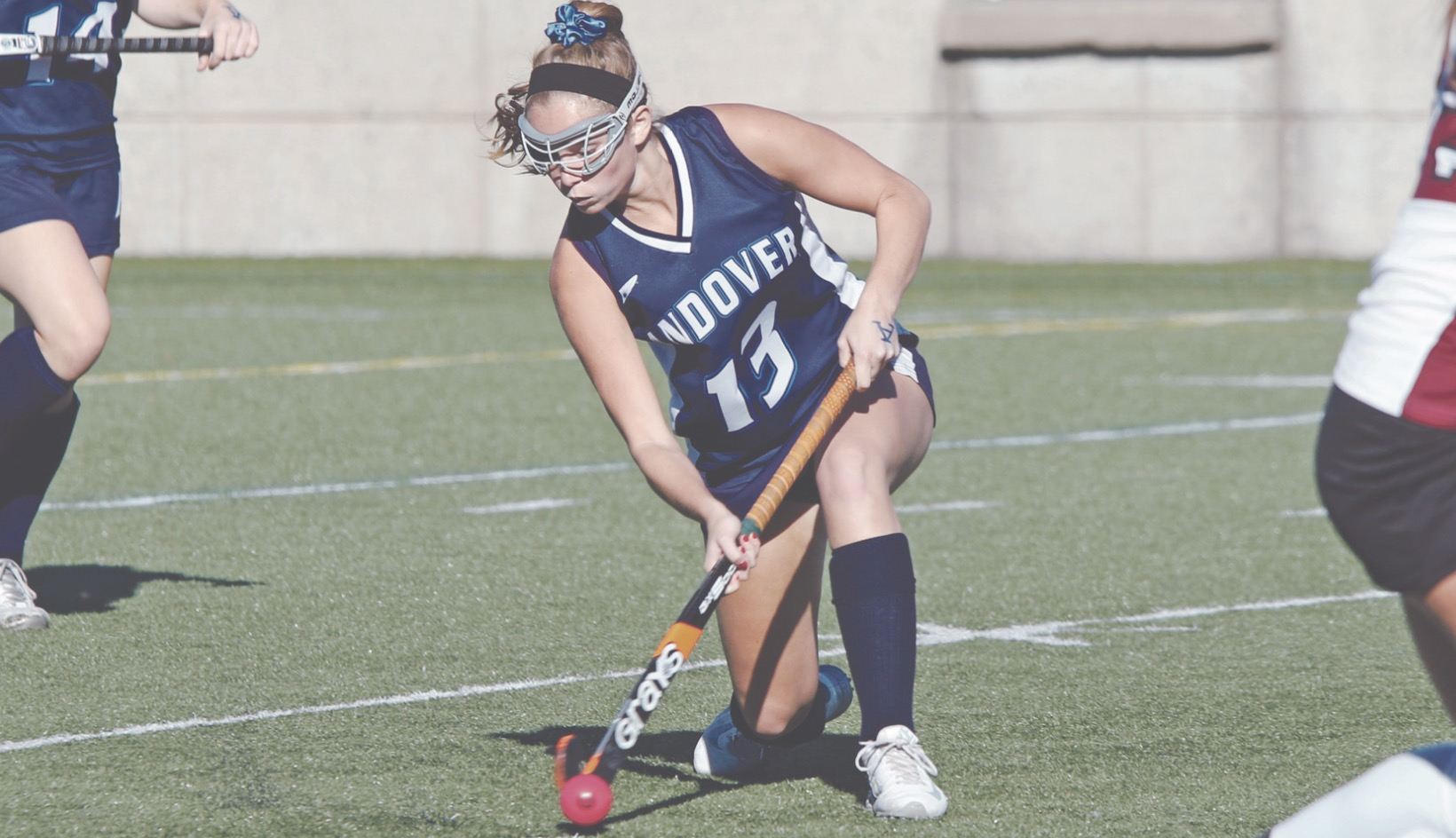 Post-Graduate Payton Donato '17 scored a goal for Andover against Choate.