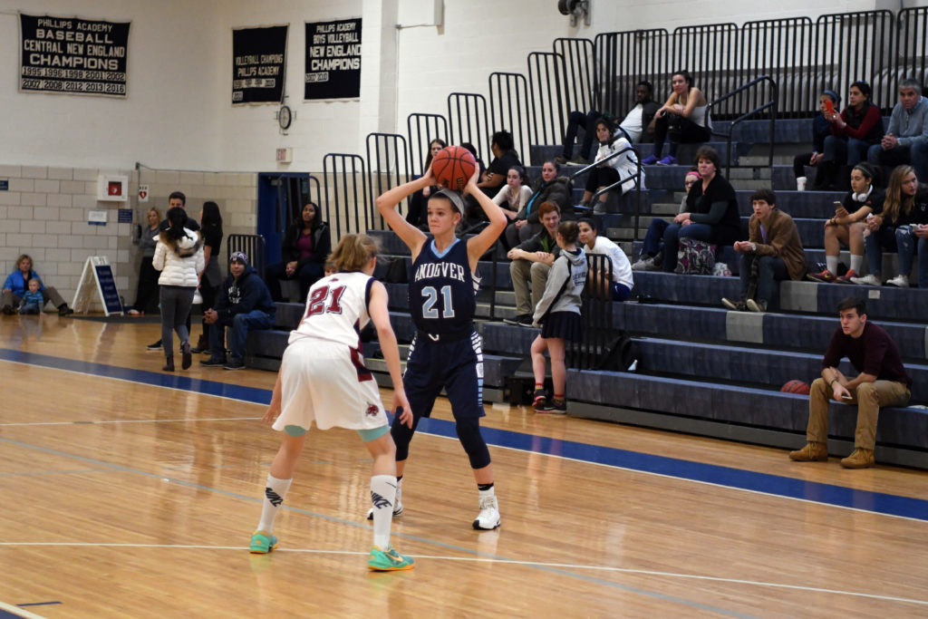 Casey Yarborough '17 was a new Upper on Andover Girls Basketball last year.