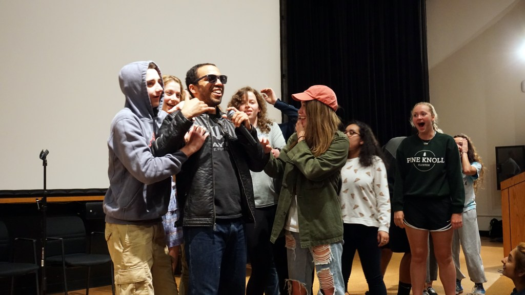 Stuck in a Trance: Hypnotist Chris Jones Performs Hypnosis on Students in Show