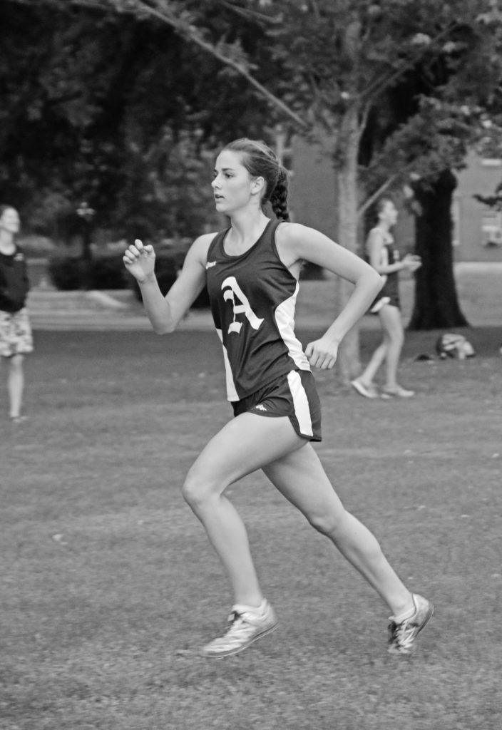 Grace Rademacher '18 serves as the sole captain for GXC.