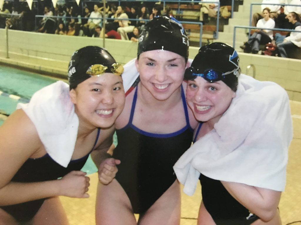 Hee-Jin Chang '05 (left) competed in the 2000 Olympics.