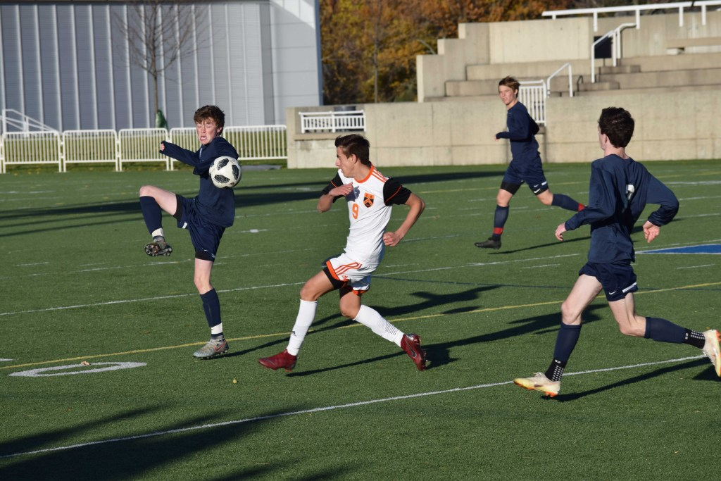 Andover Boys Soccer Defeats Tabor in the 90th Minute