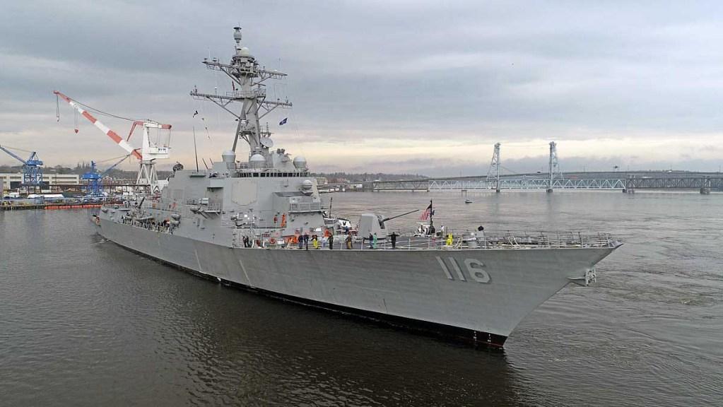 U.S. Navy Destroyer  Commissioned After  Korean War Hero Thomas Hudner '43