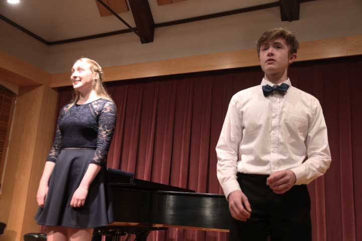 Chloe Webster '20 and Henry Crater '20 Bring Musical Theater into Student Voice Recital