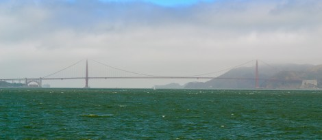 The Golden Gate Bridge, from afar