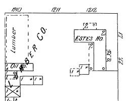 """1907 Sanborn Map showing """"Estes Place"""""""
