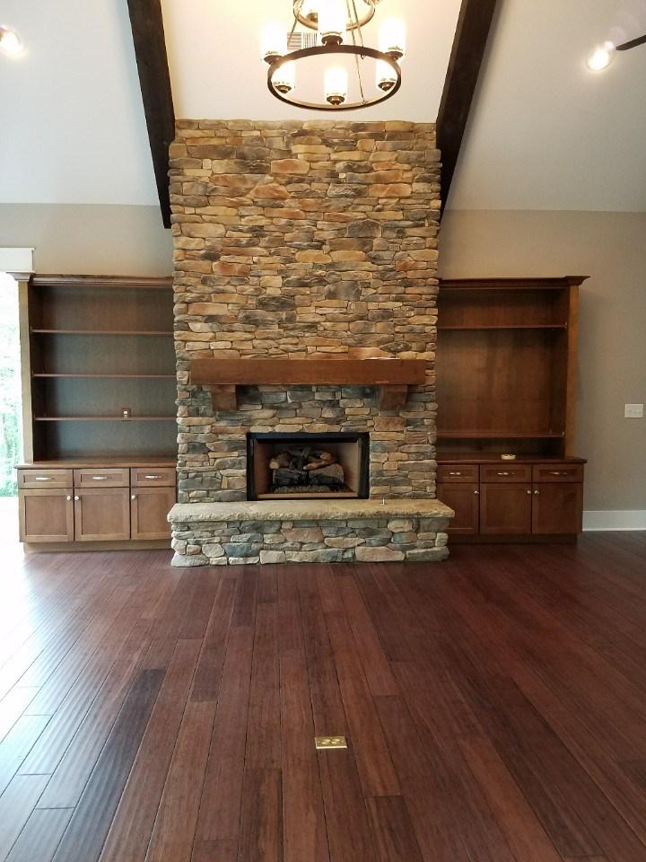 Johnson living room fireplace